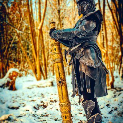 Ebony Armor with the Elder Scroll