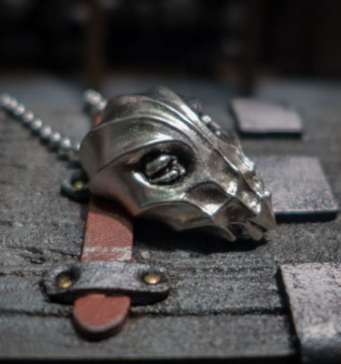 Ahzidal Mask pewter pendant