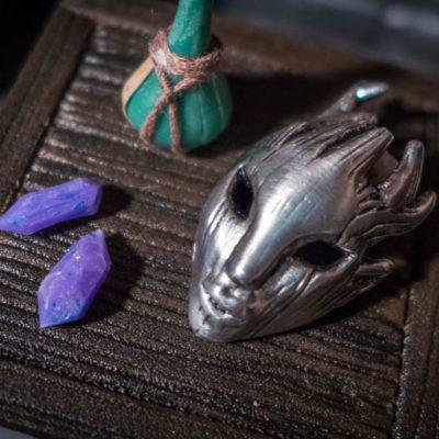 Spriggan Mask pewter pendant
