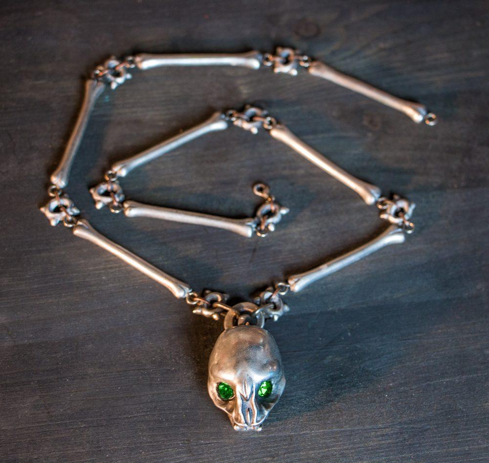 Amulet of the Gargoyle – Skyrim Metal Necklace